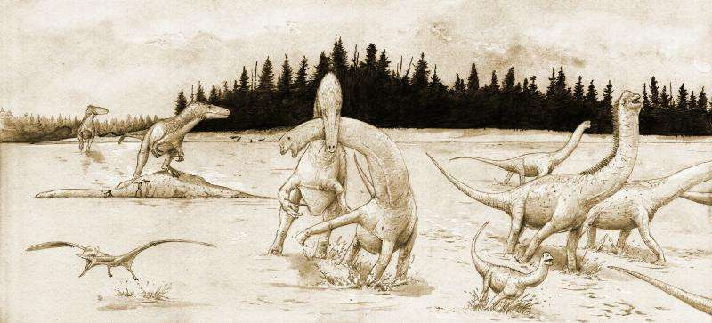 Researchers reconstruct dinosaur tracks