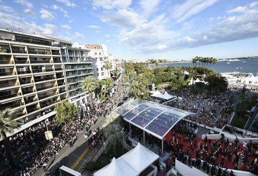A general view of the 68th Cannes Film Festival in Cannes, southeastern France on May 15, 2015