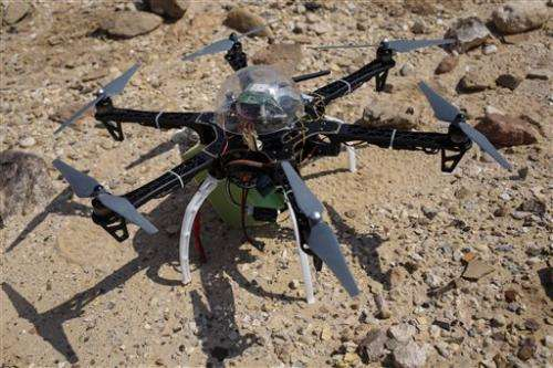 At Jordan site, drone offers glimpse of antiquities looting
