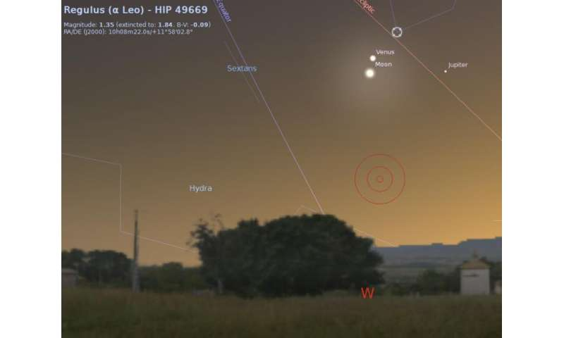 Catch a Fine Lunar Planetary Grouping This Weekend