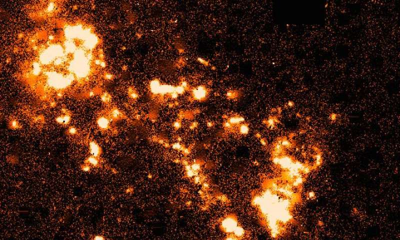 Celestial firework marks nearest galaxy collision