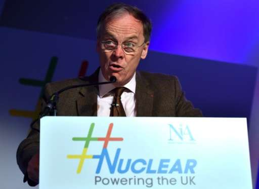 Chief Executive Officer of EDF Energy, Vincent de Rivaz, speaks during the Nuclear: Powering the UK energy conference organised