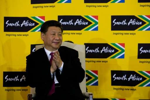 """Chinese President Xi Jinping, pictured in Pretoria on December 2, 2015, pledged """"to take significant and timely steps to ha"""