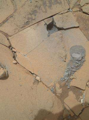Crystal-rich rock 'Mojave' is next Mars drill target