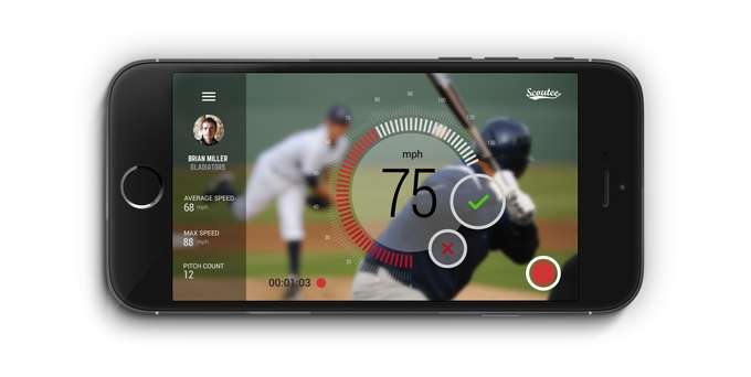 Doppler radar tech device for baseball measures pitching speed