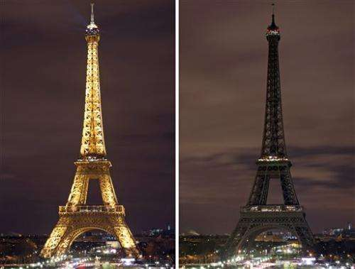 Eiffel Tower goes dark in symbolic move for Earth Hour