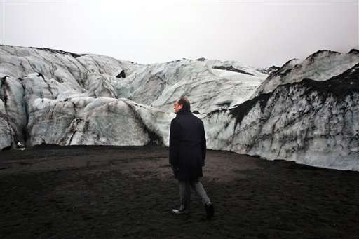 French president in Iceland to see global warming's damage