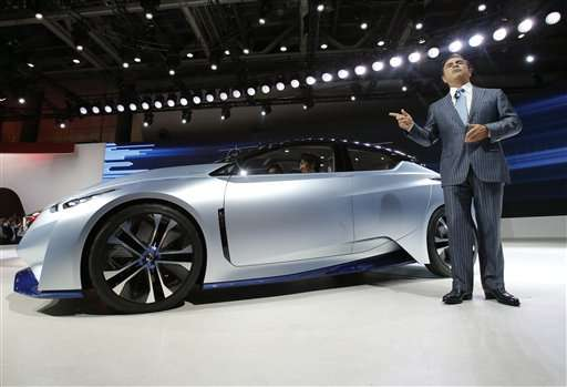 Green self-driving cars take center stage at Tokyo auto show