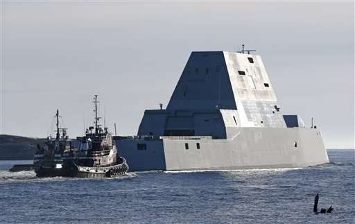 Largest destroyer built for Navy headed to sea for testing