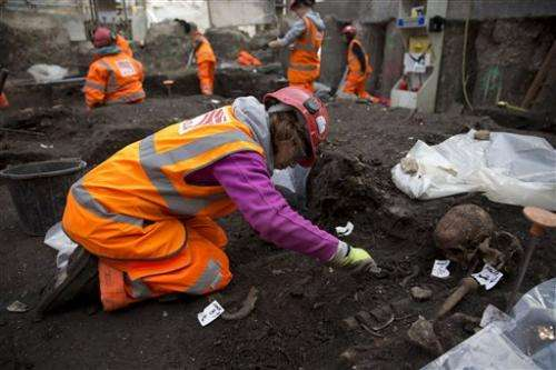 London rail work unearths thousands of skeletons from Bedlam