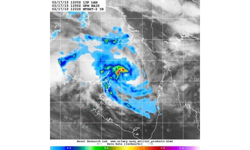 NASA satellites catch birth of Tropical Cyclone Lam in Gulf of Carpentaria