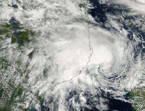 NASA sees Tropical Cyclone 15S meandering in Mozambique Channel
