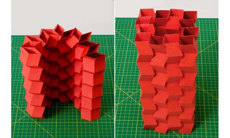 Paper tubes make stiff origami structures