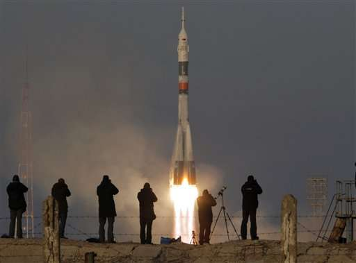 Russian capsule heads for space station