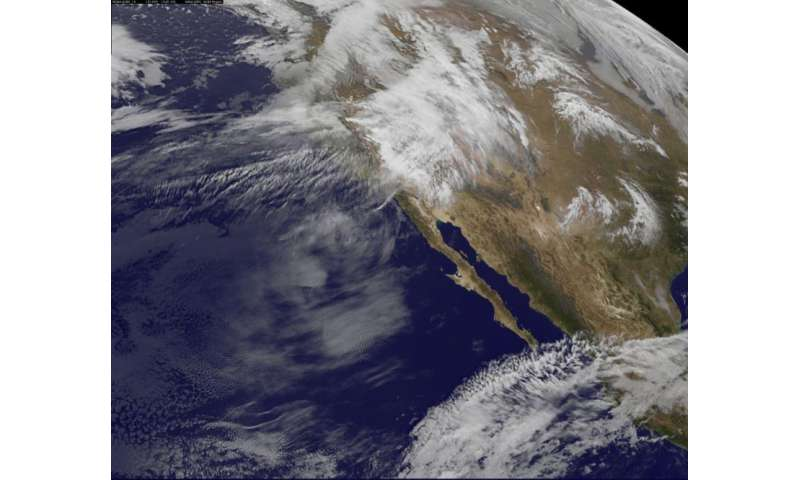 Satellite animation shows series of storms pummel Pacific Northwest