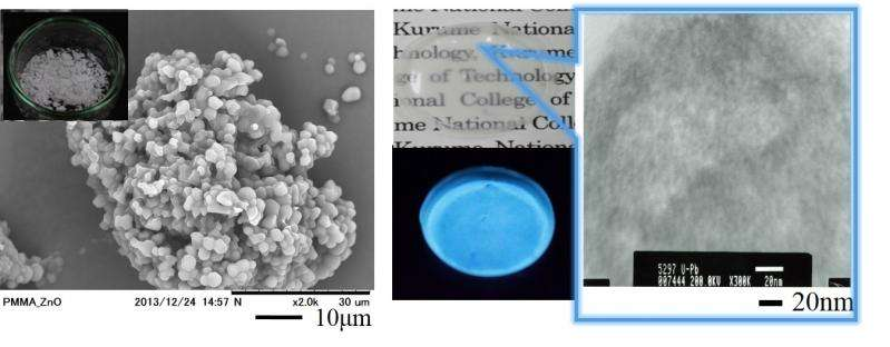 Semiconductor nanoparticles show high luminescence in a polymer matrix