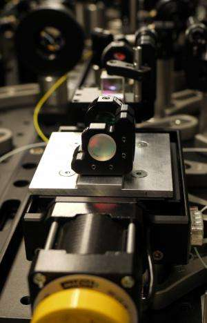The first optically synchronised free-electron laser