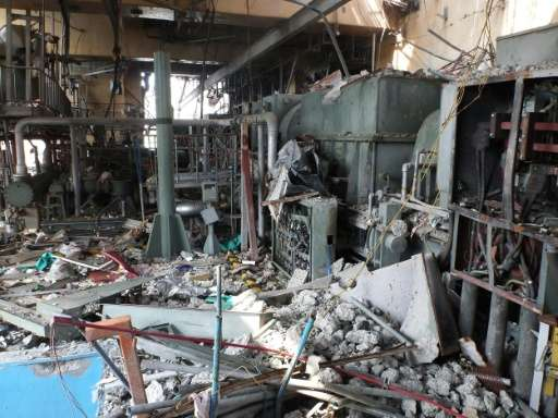 The fourth floor of the reactor four building at the Fukushima Dai-ichi nuclear power plant on June 11, 2011