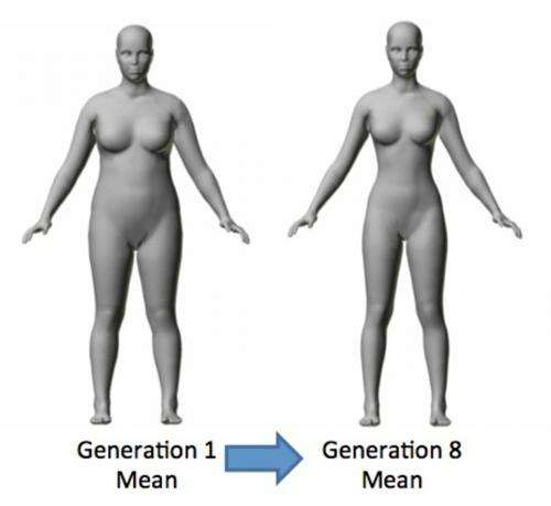 There is really a single ideal body shape for women?