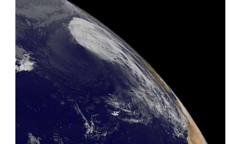 NASA satellite data shows Joaquin becoming a post-Tropical Cyclone