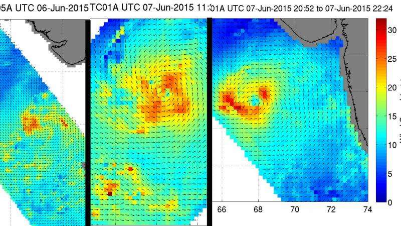 NASA sees Tropical Cyclone 01A's winds intensify
