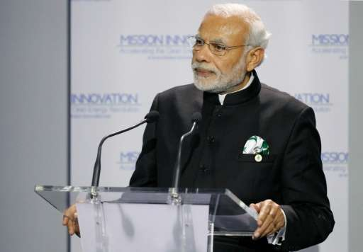 Indian Prime Minister Narendra Modi, speaking on the sidelines of a 195-nation United Nations climate summit in Paris, said the