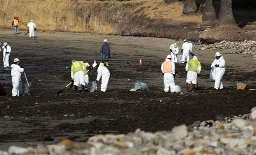 Latest on California oil spill: Up to 105,000 gallons leaked