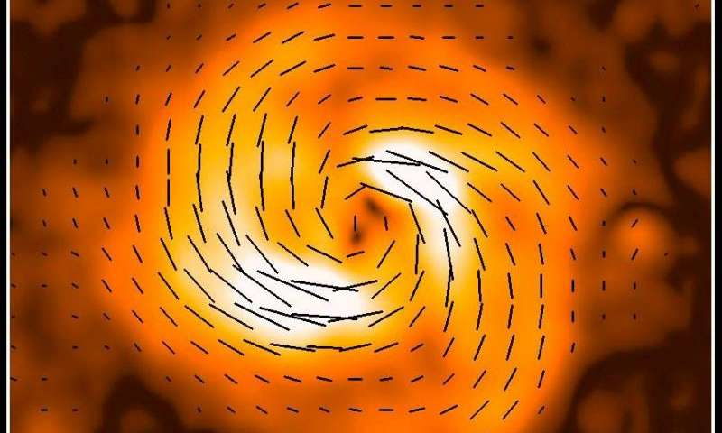 Magnetic field discovery gives clues to galaxy-formation processes
