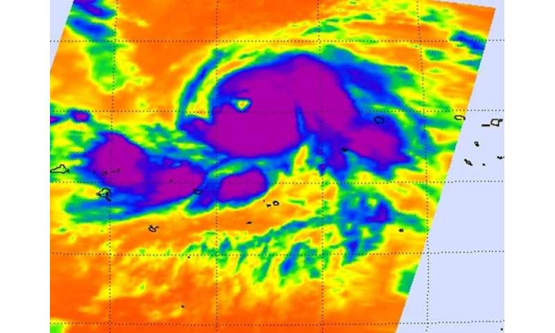 NASA sees Typhoon Nangka strengthen
