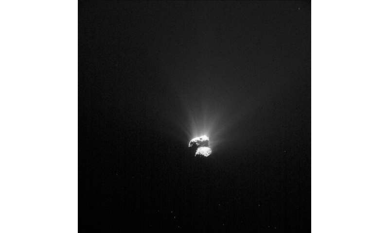 Rosetta's first peek at the comet's south pole