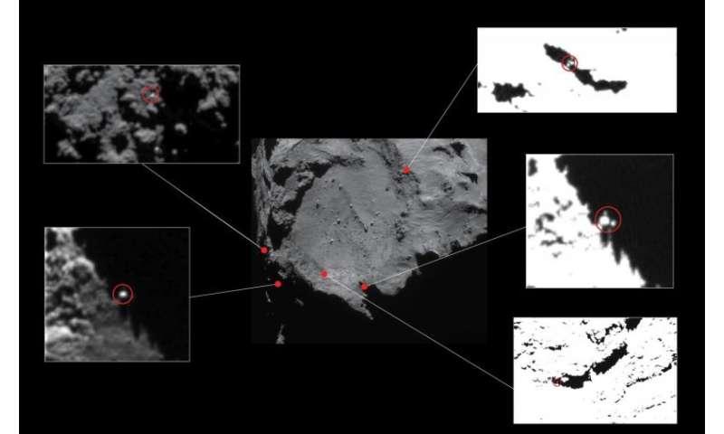 Rosetta team spots glint of light that could be comet lander