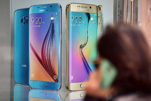 Samsung Electronics, world's top mobile producer, flagged an operating profit of $5.4 billion for the January-March 2015 period