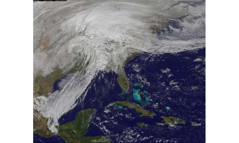 Satellite animation shows powerful storm in central US