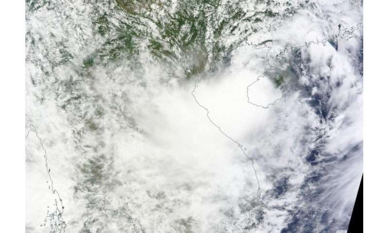 NASA sees Tropical Storm Kujira move into the Gulf of Tonkin