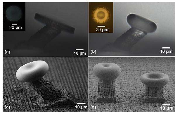 3-D laser printing of whispering-gallery-mode microcavities