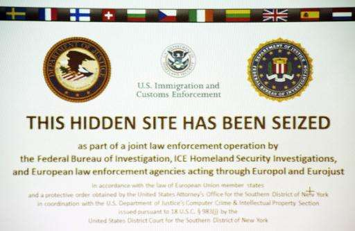 "A screenshot of the illegal internet retail platform ""Silk Road 2.0"" seen during a press conference at the Hesse Offic"