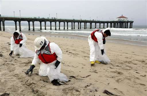 Cleanup of oily goo could allow California beaches to reopen