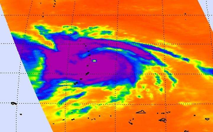 NASA's Aqua satellite observes Supertyphoon Nangka