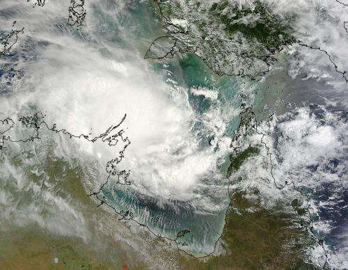 NASA satellites reveal Tropical Cyclone Lam strengthening