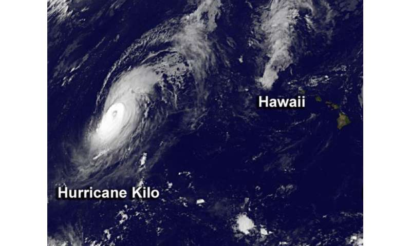 NASA sees Hurricane Kilo headed for International Date Line