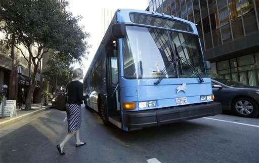 San Francisco commuters snub public transit for $6 bus ride