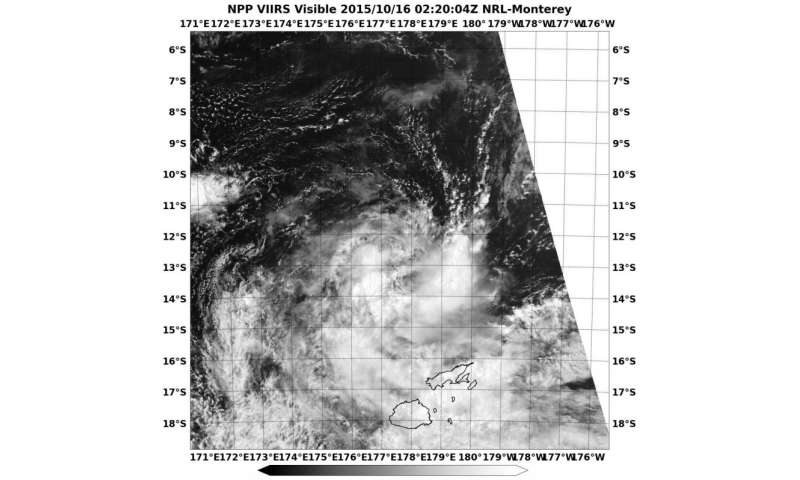 Suomi NPP satellite spots formation of second Southern Pacific tropical cyclone