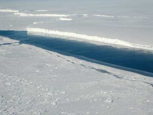 This photo provided by NASA on June 13, 2013 shows the ice front of Venable Ice Shelf, West Antarctica