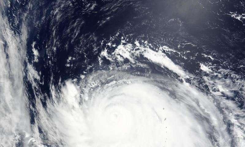 NASA sees Typhoon Nangka leaving the Marianas