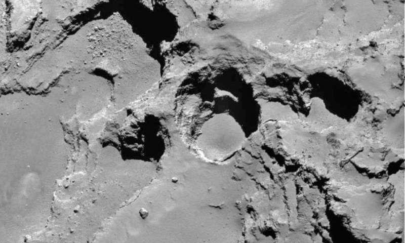 Rosetta spacecraft sees sinkholes on comet