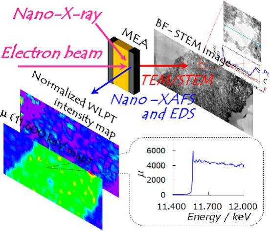 Chemical distribution and bonding states in fuel cell membranes