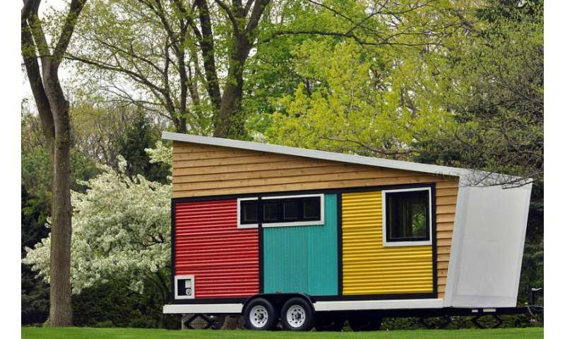 Cubes, LED lighting and more spin magic into tiny house