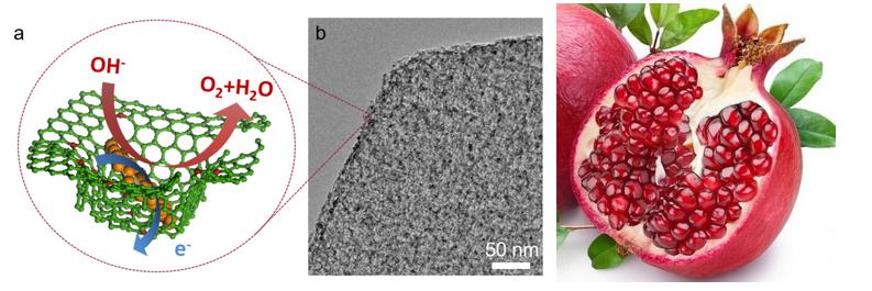 Pomegranate-like nanocomposites: the new avenue of graphene in water splitting