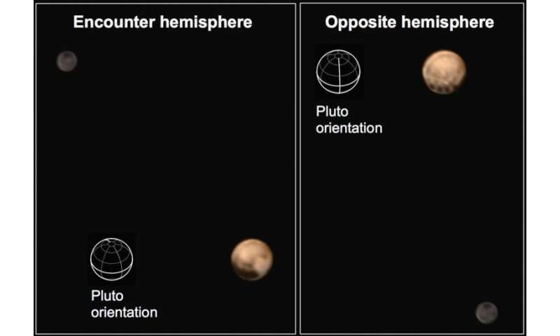 New Horizons color images reveal two distinct faces of Pluto