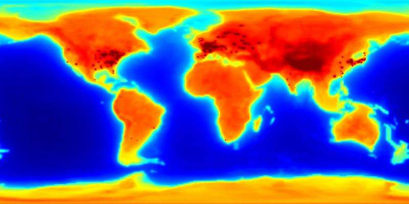 First global antineutrino emission map highlights Earth's ... on global map india, satellite of earth, global satellite maps, aerial photography of earth, blackline of earth, gps of earth, globe of earth, global view of the earth, resources of earth, global climate earth, global maps of north pole, global map view, global map water, united states of earth, global maps live, radar of earth, global map light, global map continents, global hemisphere map, global earth map residential homes,